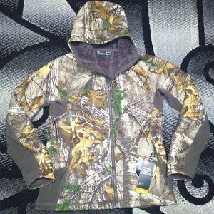 Under Armour Sherpa Hoodie Jacket L Camo Mid Seaso